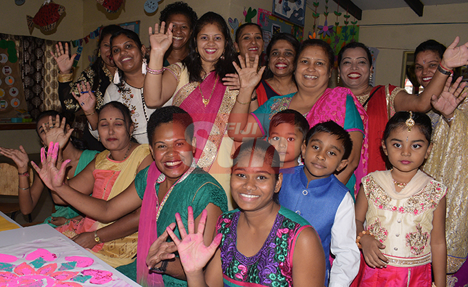 Lakshmi Narayan Kindergaten, teachers, parents and students while celebrating Diwali on October 25, 2019. Photo: Ronald Kumar.
