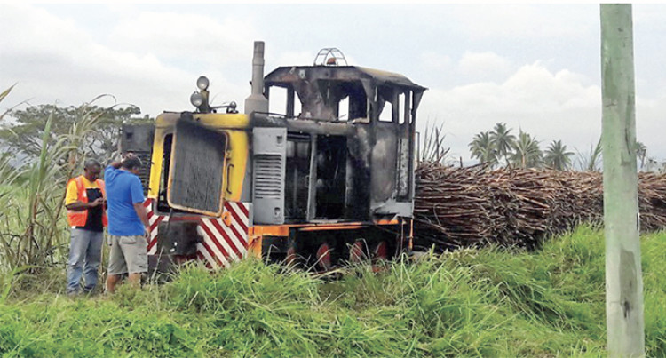 Two Men In Hospital After Locomotive Fire