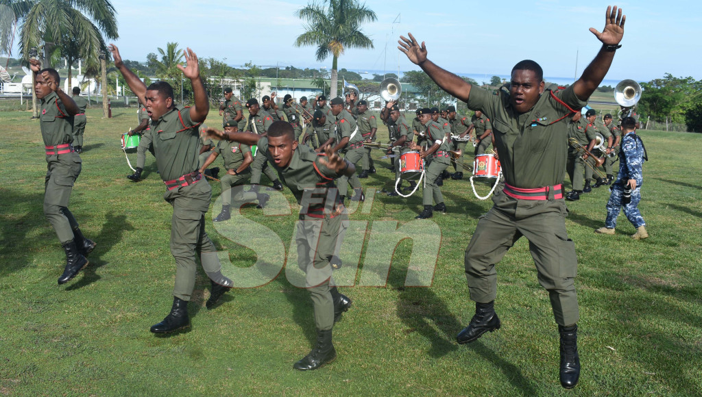 Members of the RFMF military band perform their final practise at the Delta Coy in Namaka yesterday. Photo: Waisea Nasokia