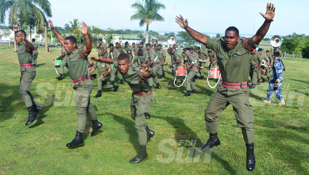 The Republic of Fiji Military Forces (RFMF) Band during their performance at Blackrock Camp in Nadi on October 12, 2019. Photo: Waisea Nasokia