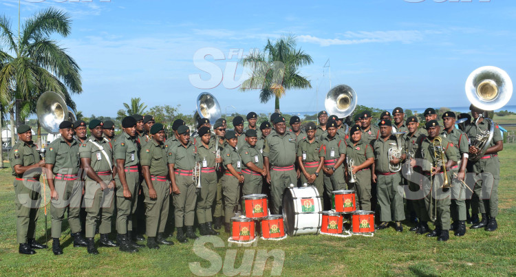 Members Of The Republic Of Fiji Military Band Perform At Delta Coy, Namaka Before Departing For Sydney