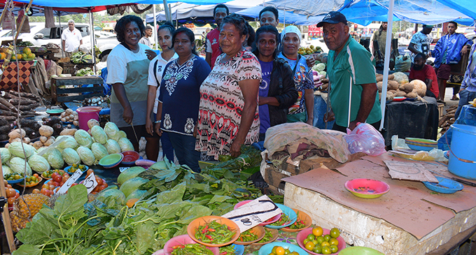 The market vendors at Nabua. Photo: Ronald Kumar