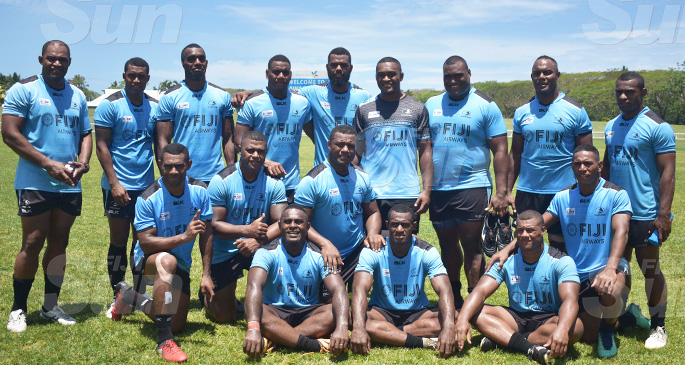 Nadroga rugby players in the Fiji Airways Fijian Drua squad at Lawaqa Park, Sigatoka on October 11, 2019. Photo: Mereleki Nai
