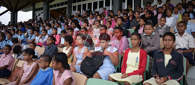 Students from Nasinu Cluster Association Education Exhibition Day at Albert Park on October 25, 2019.Photo: Ronald Kumar.
