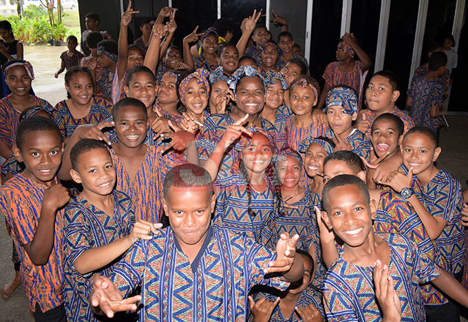 Christian Mission Fellowship Primary School students during Nasinu Cluster Association Education Exhibition Day at Albert Park on October 25, 2019.Photo: Ronald Kumar.