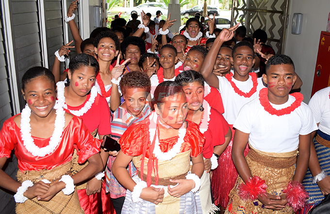 AOG Primary School students during Nasinu Cluster Association Education Exhibition Day at Albert Park on October 25, 2019.Photo: Ronald Kumar.