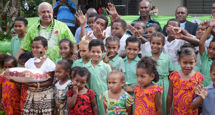 Prime Minister Bainimarama Opening School Quarters And Bakery In Tailevu