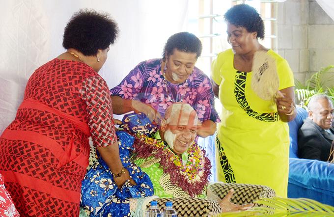 Prime MInister Voreqe Bainimarama while opening the teachers quarters at Ratu Veikusu Primary School in Buretu , Tailevu on October 22, 2019. Photo: Ronald Kumar.