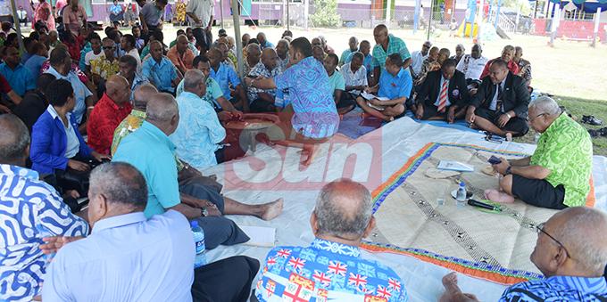 Prime Minister Voreqe Bainimarama while having talanoa session with Cautata villagers on October 22, 2019. Photo: Ronald Kumar.