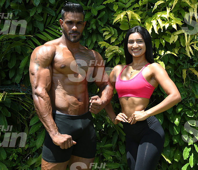 Priyanka Singh (right) with Jordan Pillay. Photo: Kelera Sovasiga