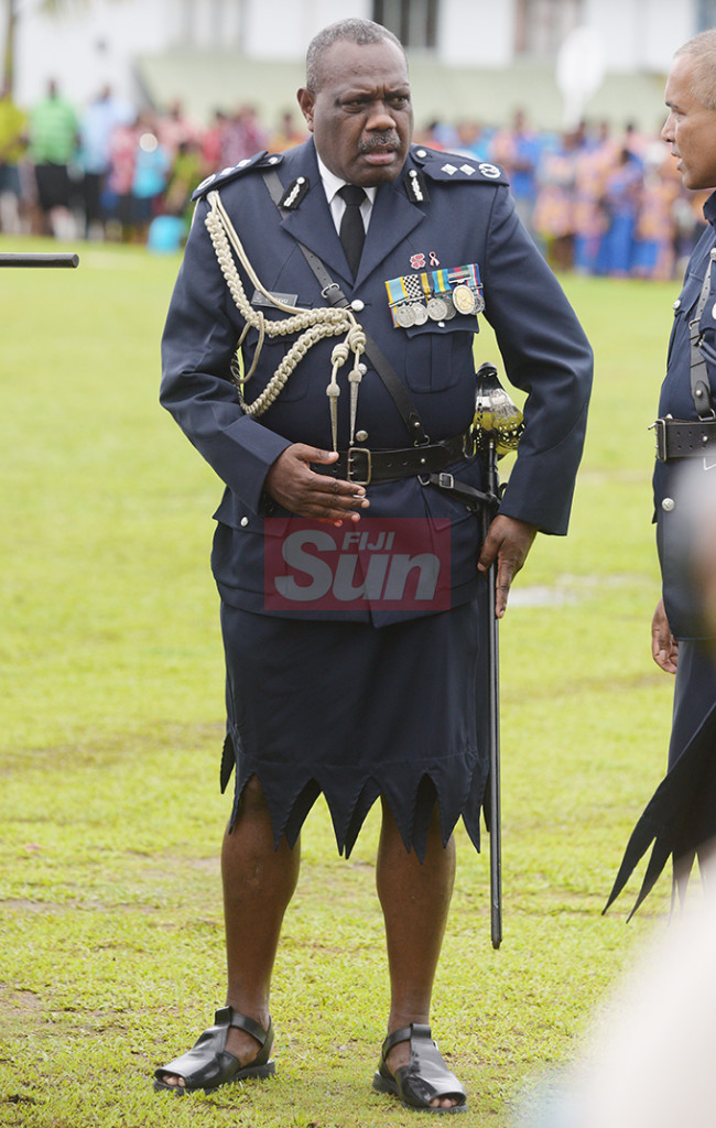 Acting Police Commissioner ACP Rusiate Tudravu during Police Pass-out parade at Nasova Police Academy on October 18, 2019. Photo: Ronald Kumar.