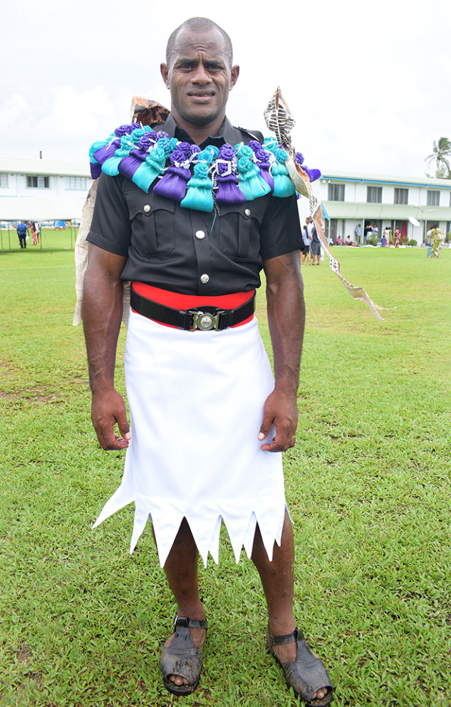 Police Constable Joeli Lutumailagi after the passing out parade at the Nasova Police Academy, Suva, on October 18, 2019. Photo: Ronald Kumar