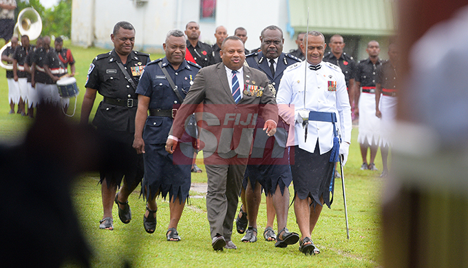 Minister for Defense and National Security Inia Seruiratu while inspecting 205 man and women on Parade during Police Pass out Parade in Suva on October 18, 2019. Photo: Ronald Kumar.