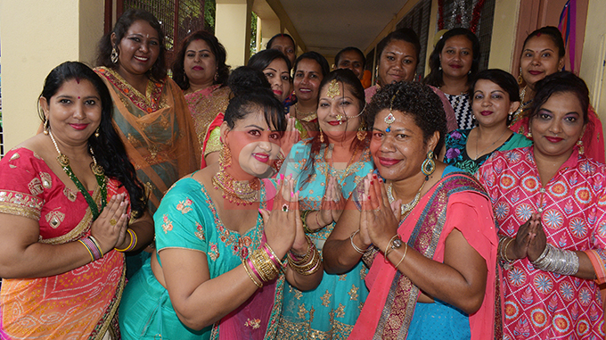 Happy Diwali to all...Rishikul Primary School teachers while celebrating Diwali , The festival of lights in School with parents and students on October 25, 2019. Photo: Ronald Kumar.