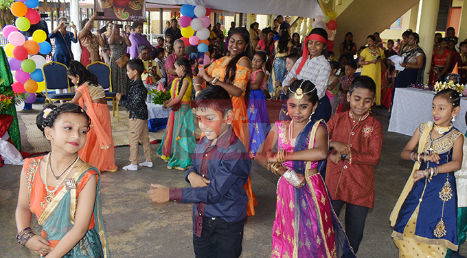 Rishikul Primary School students during their special Diwali attire prefomance on October 25, 2019. Photo: Ronald Kumar.
