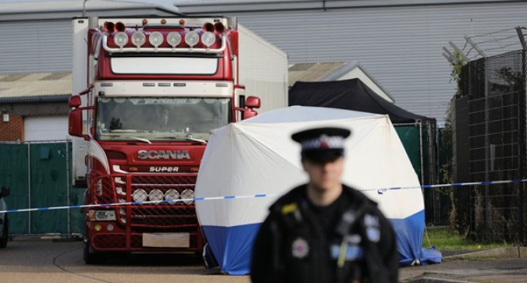 39 Bodies Found In A Refrigerated Lorry Trailer In Essex, UK