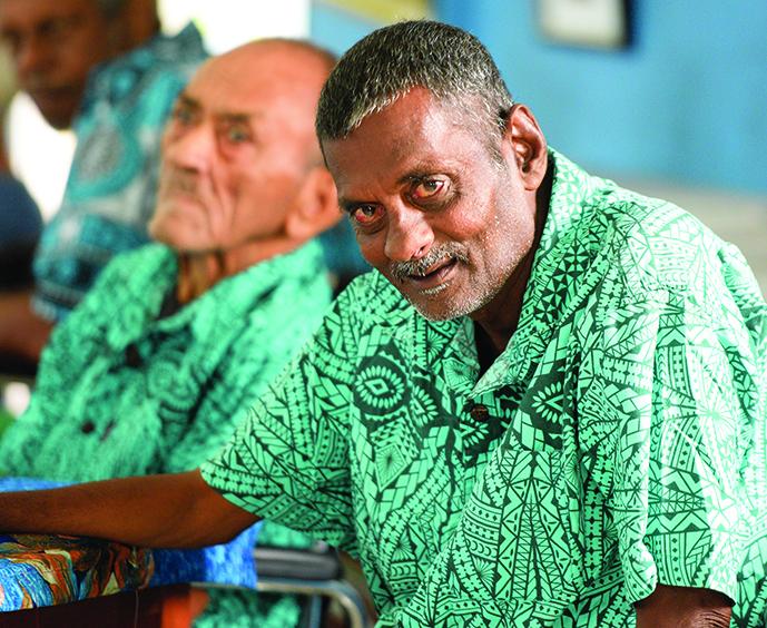 Golden Age Home residents Maciu Baemalua (left),  and Jagdish Prasad on October 2, 2019.   Photos: Ronald Kumar