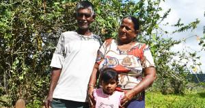 Vijay Kumar with wife Satiya Wati and granddaughter Rashika Devi on October 23, 2019, in Labasa. Photo: Laisa Lui