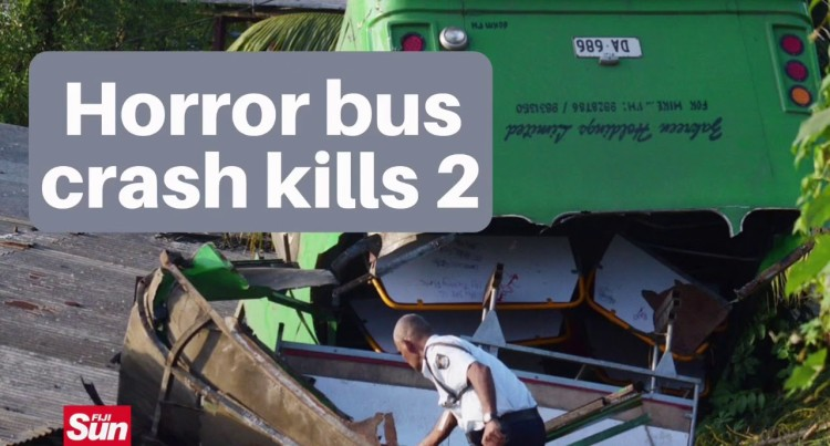 Horror Bus Crash Kills 2 Students On Lakena Hills, Nausori