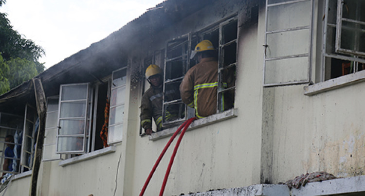 Four Families Escape Nasese Police Barracks Blaze