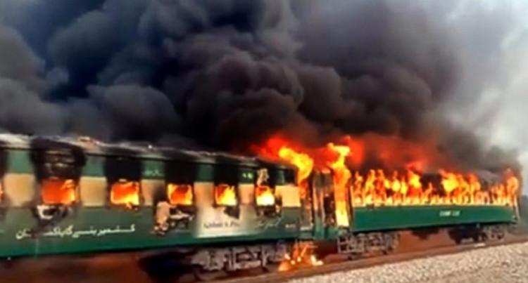 Burning Train In Pakistan Left 74 Dead, Took 20 Minutes To Stop Amid Blaze