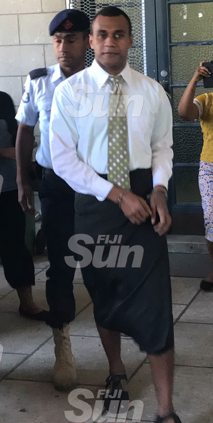 Suliasi Fuata outside the High Court in Suva after his sentencing on October 31, 2019 Photo: Ilaijia Ravuwai