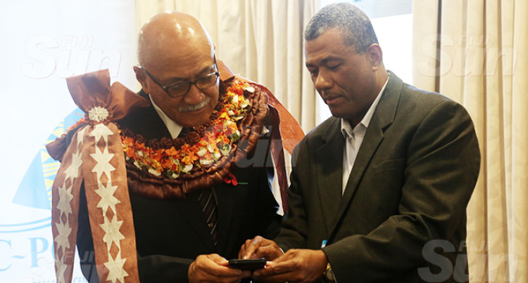 President Konrote Launches FoodSwitch Fiji App