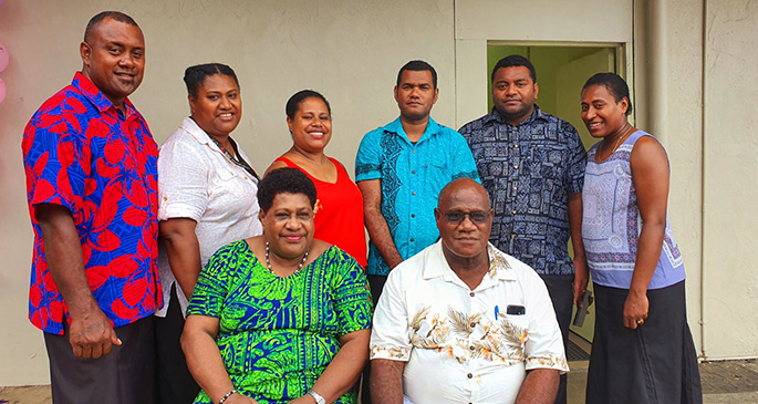 From left: Family Foods Directors Kelera Kalioni (third from left), Tale Kalioni (fourth from left) with family members in front of their new supermarket Family Foods in Kinoya on November 7, 2019.