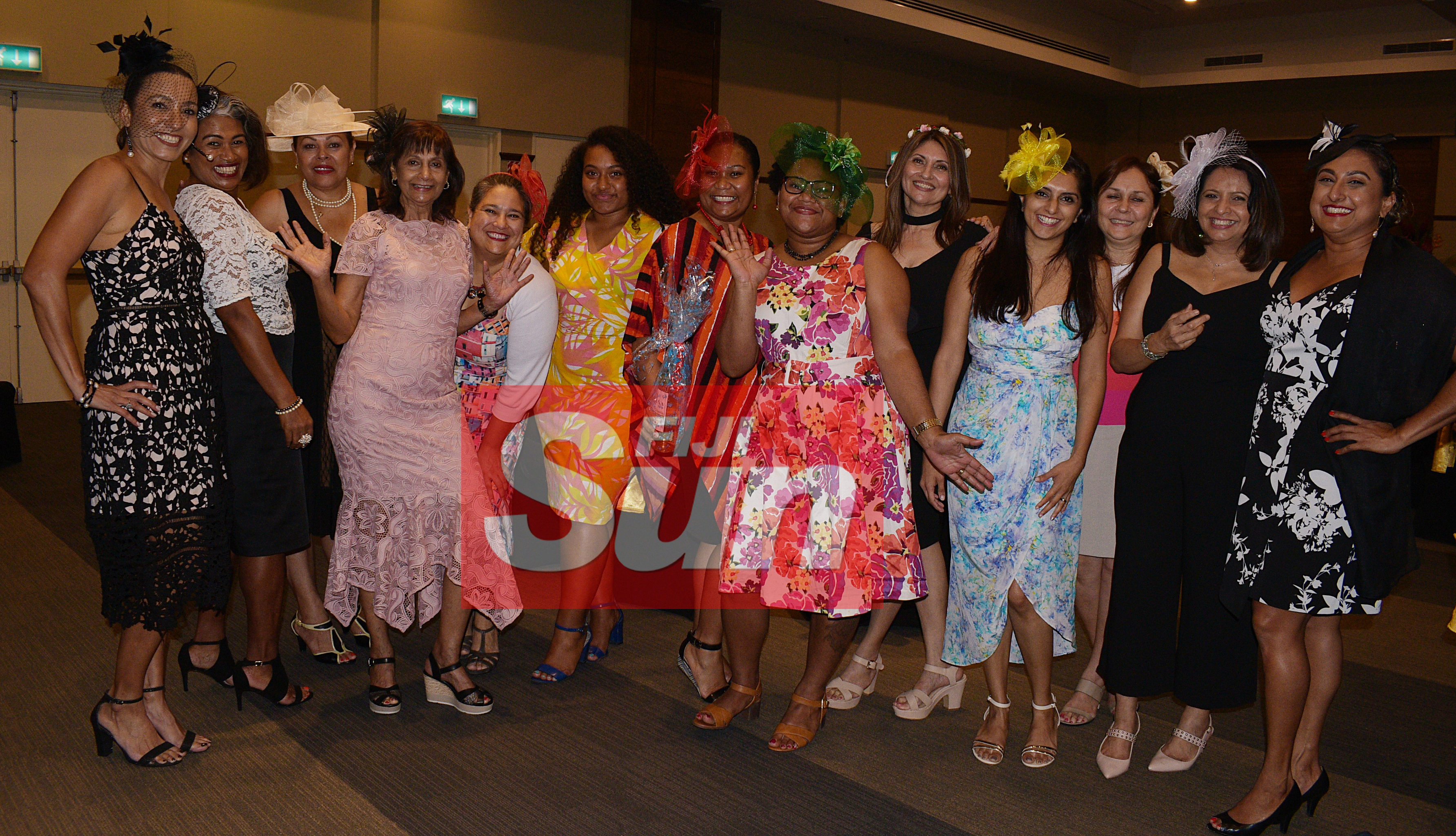 Ladies with their special Melbourne cup hats during Rotary Club Suva organized Melbourne Cup race event at Grand Pacific Hotel on November 5, 2019. Photo: Ronald Kumar.