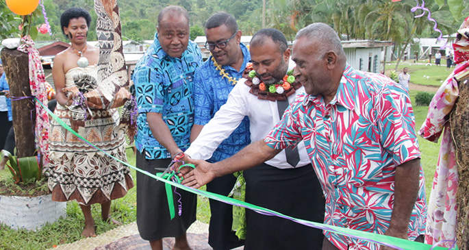 Minister Waqainabete officially opens the convenience facilities project. Photo: DEPTFO