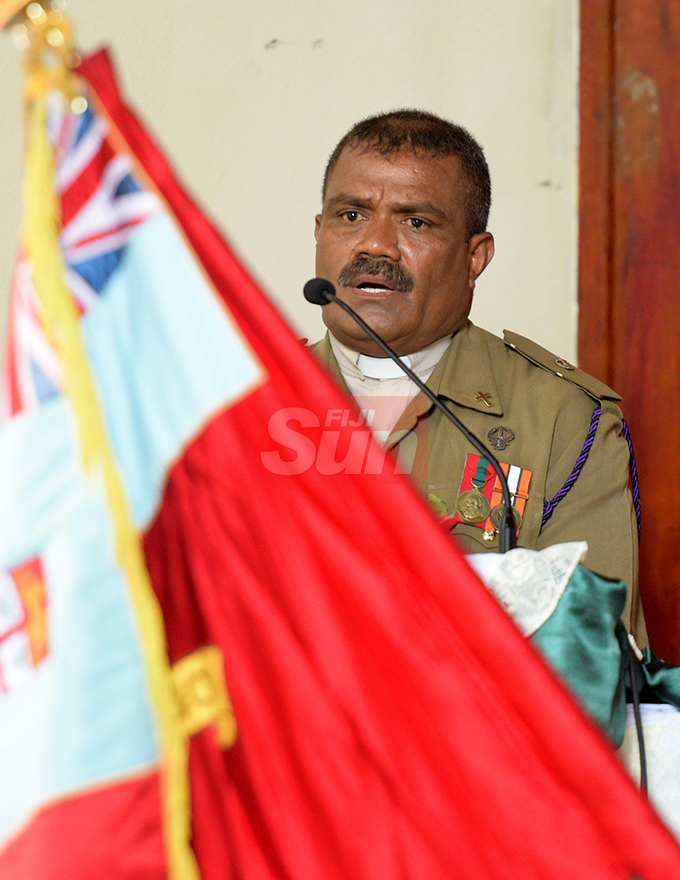 Rev. Viliame Tunidau during Republic of Fiji Military Forces (RFMF)  Mutiny Remembrance Day Church service at Queens Elizabeth Barracks  on 2 November, 2019. Photo: Ronald Kumar.