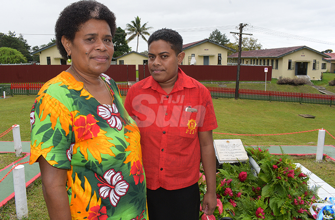 Elesi Tabusiga with her daughter Senigigia Rokosirinavosa during the Republic of Fiji Military Forces (RFMF) 2nd November, 2000 Mutiny Remembrance Day at Queens Elizabeth Barracks  on 2 November, 2019. Photo: Ronald Kumar.
