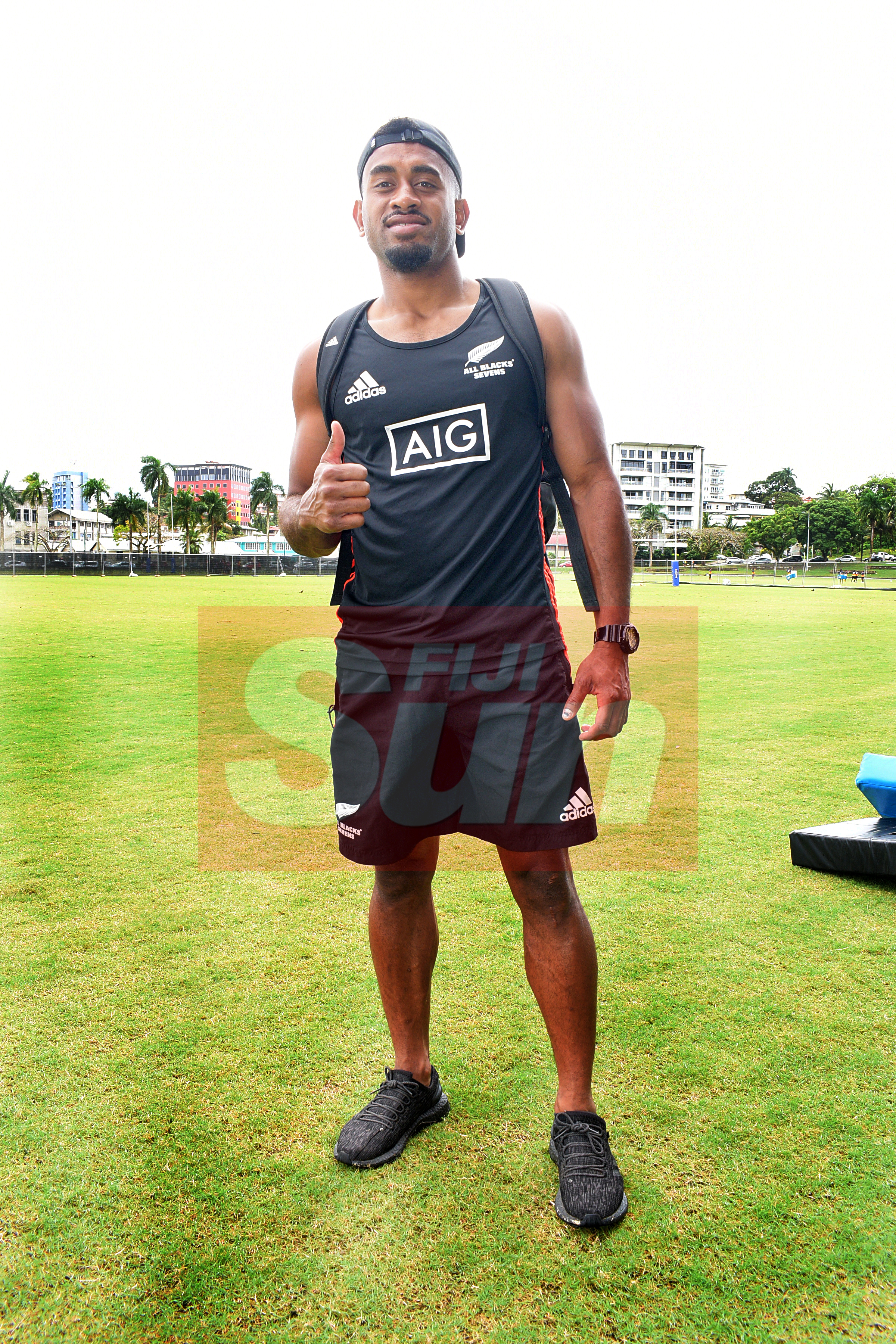 Fiji born New Zealand sevens right wing, Akuila Rokolisoa after training at Albert Park fot Oceania Sevens Championship on November 5, 2019. Photo: Ronald Kumar.