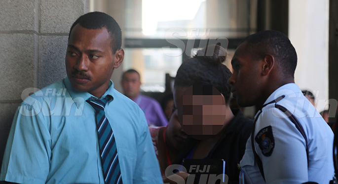 Tevita Kunawave appears at the Magistrate court yesterday. Photo: Kelera Sovasiga