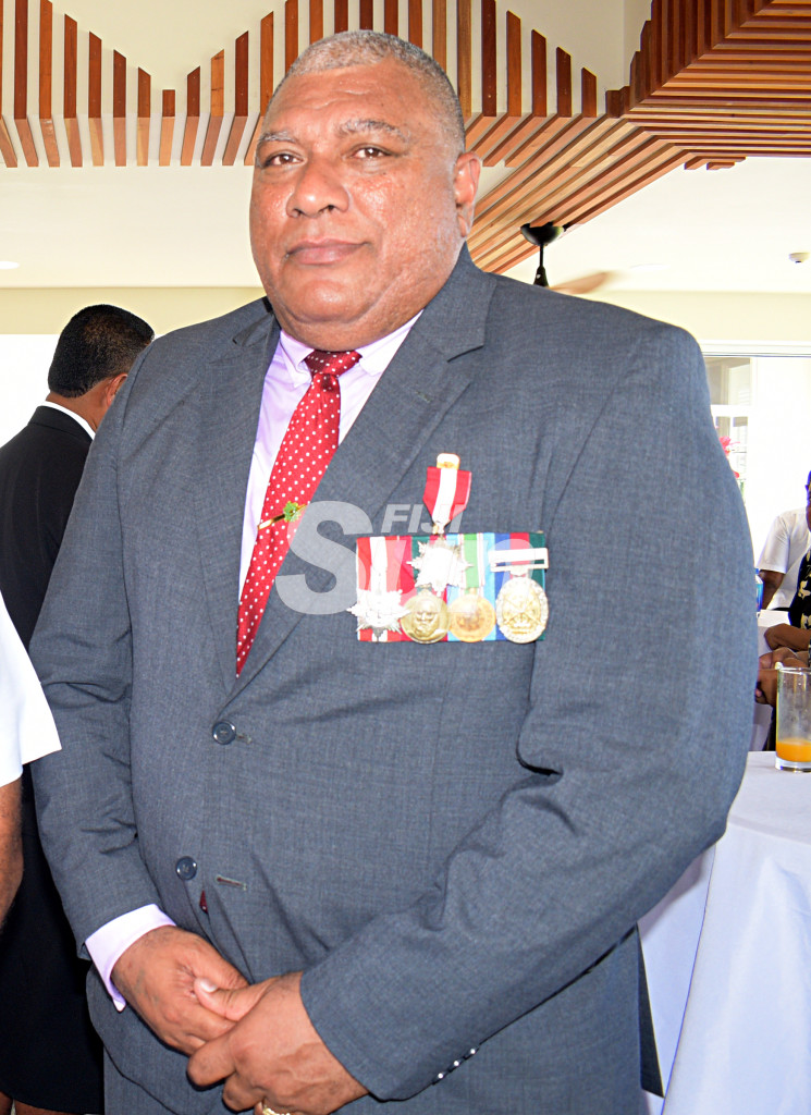 Tui Macuata, Ratu Wiliame Katonivere after receiving Member of the Order of Fiji (MF) medal from President Major-General (Ret'd)Jioji Konrote during Order of Fiji investiture ceremony at State House on November 29, 2019. Photo: Ronald Kumar.