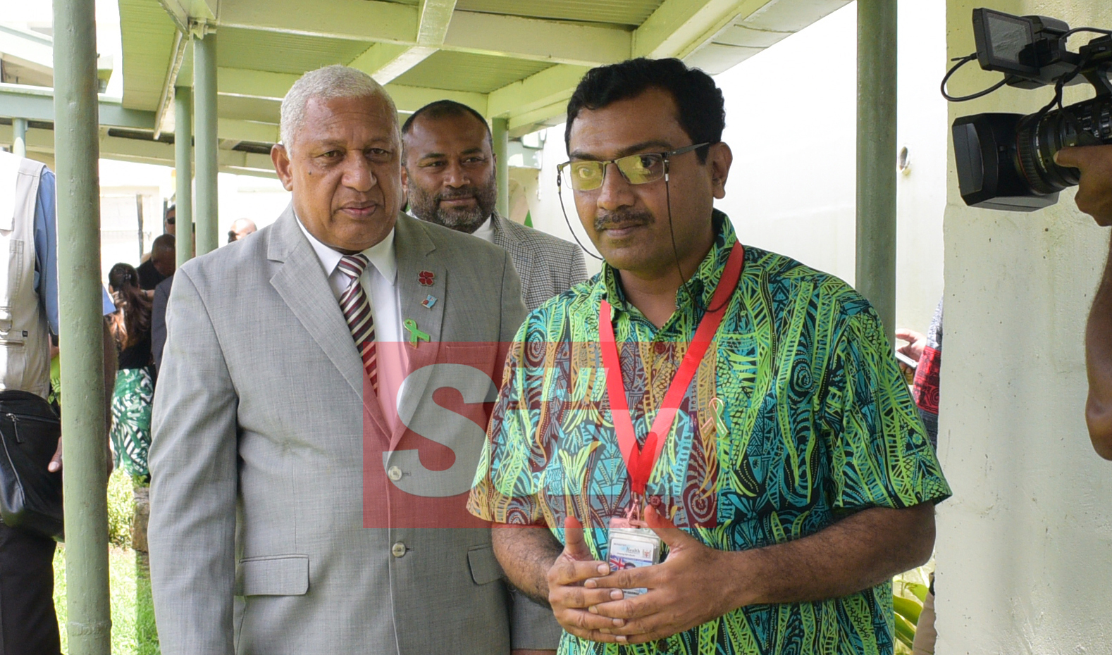 Prime Minister Voreqe Bainimarama and Minister for Health Dr. Iferemi Waqainabete with Dr. Kiran Gaikwat of St. Giles after opening the Alcohol and Drug unit (AOD Unit) at the hospital on November 6, 2019. Photo: Ronald Kumar.