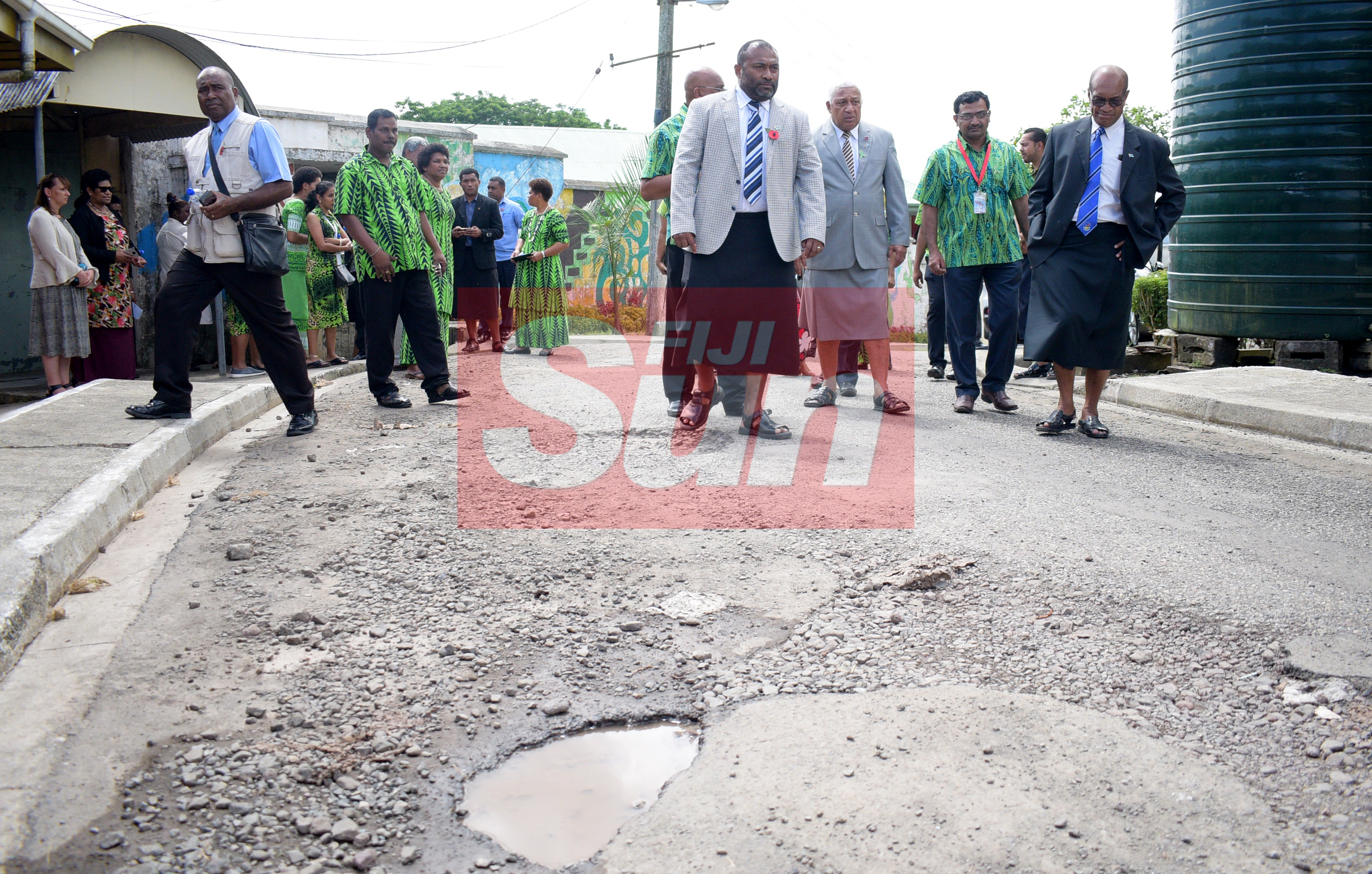 From left-Minister for Health Dr. Iferemi Waqainabete, Prime Minister Voreqe Bainimarama, Dr. Kiran Gaikwat and Minister for Infrastructure and Transport Jone Usamate after opening the Alcohol and Drug unit (AOD Unit) at the hospital on November 6, 2019. Photo: Ronald Kumar.