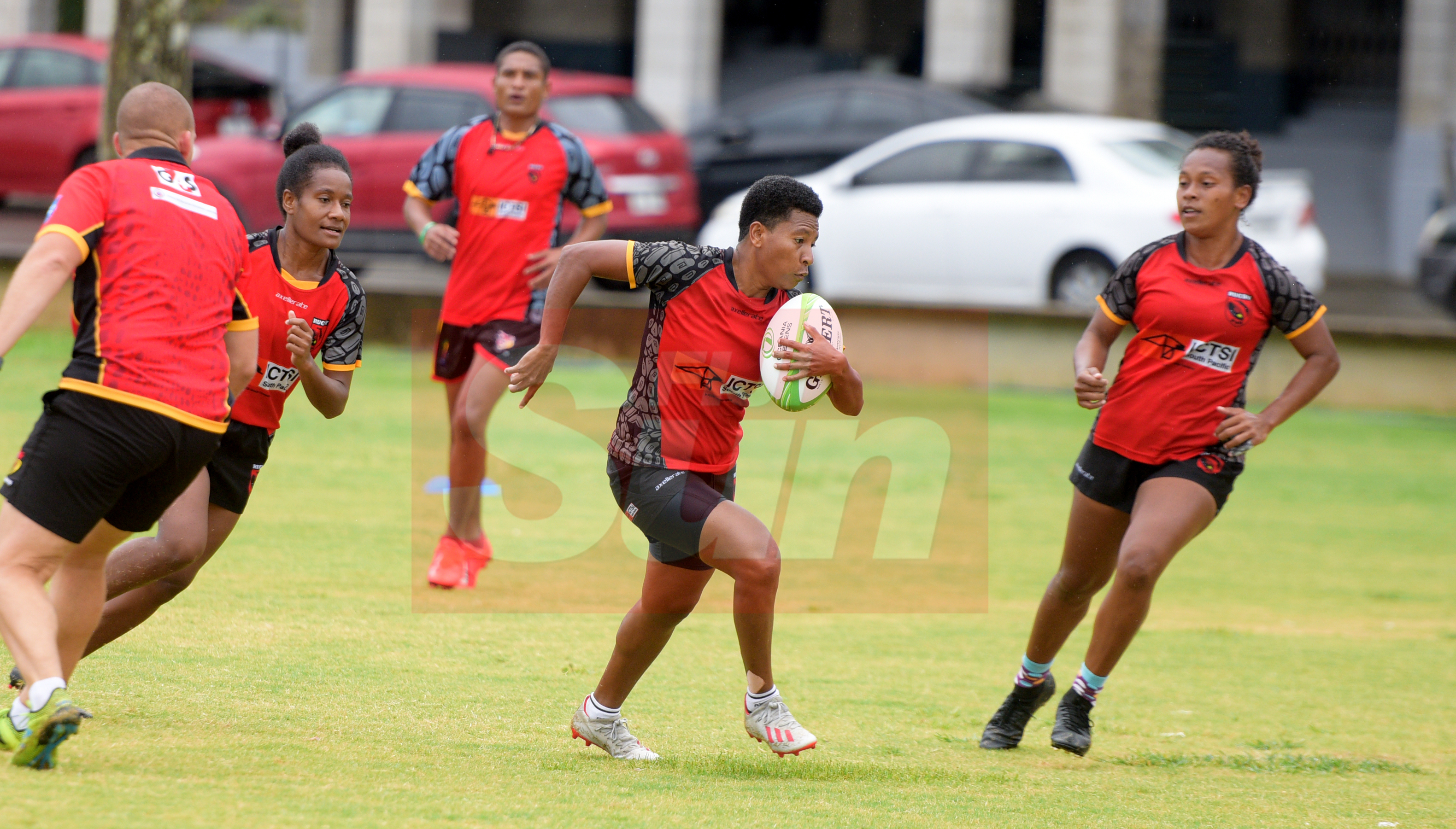 PNG Womens team while training at Albert Park for Oceania Sevens Championship on November 5, 2019. Photo: Ronald Kumar.