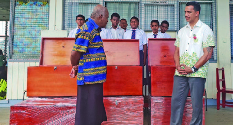 Ratu Kadavulevu School Students Receive Wooden Chests From Ministry Of Forestry