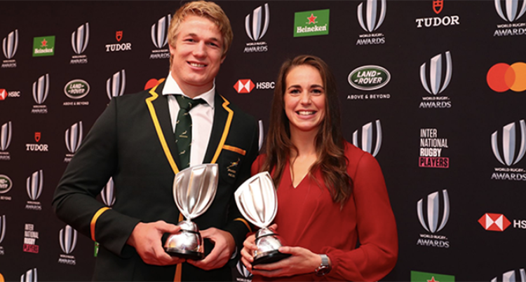 Springboks' Du Toit And England's Scarratt Named World Rugby Players Of The Year 2019