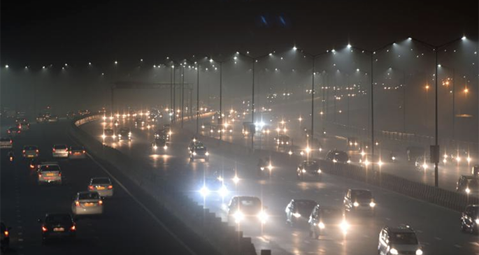 Thick smog has resulted in several days of low visibility across New Delhi. Photo: CNN