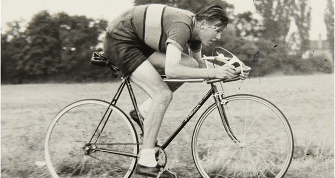 Mr Mantle racing in 1955 Photo: Solent News