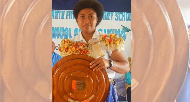 Josifini Top Student At Ratu Finau Secondary School