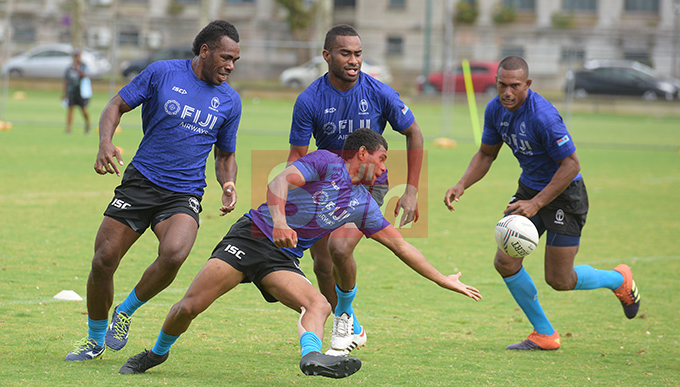 Fiji 7's extended team members uring training at Albert Park on November 1, 2019. Photo: Ronald Kumar.