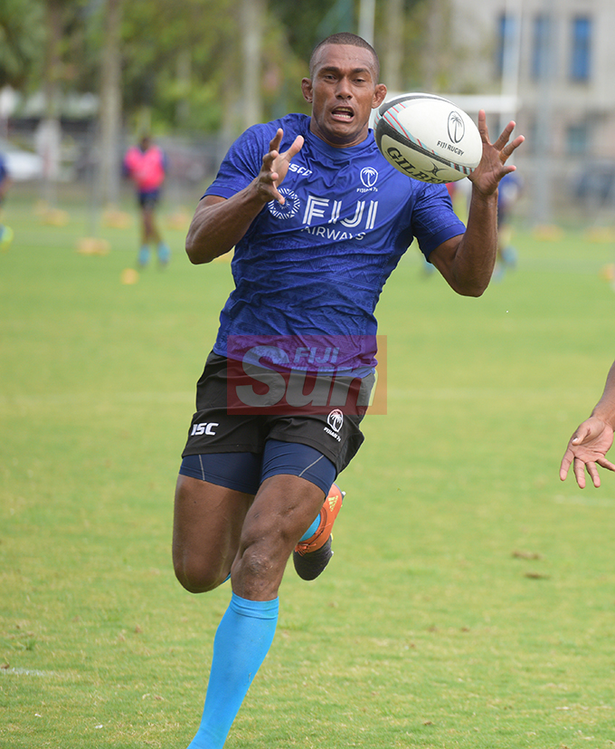 Fiji 7's extended squad member Suliano Volivoli during team training at Albert Park on November 1, 2019. Photo: Ronald Kumar.