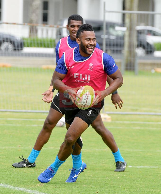 Fiji 7's extended squad member Vilimoni Botitu during team training at Albert Park on November 1, 2019. Photo: Ronald Kumar.