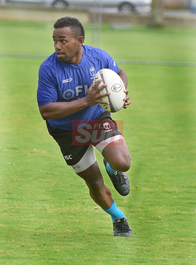 Fiji 7's extended squad member Waisea Nadogo during team training at Albert Park on November 1, 2019. Photo: Ronald Kumar.