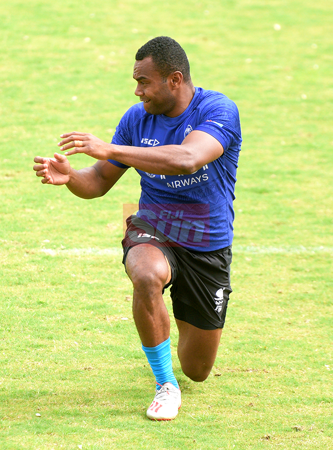 Fiji 7's extended squad member Alosio Naduva during team training at Albert Park on November 1, 2019. Photo: Ronald Kumar.