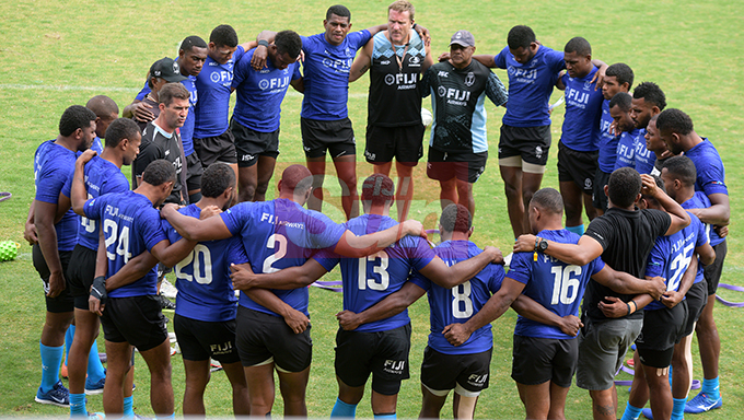 Fiji 7's extended squad members during team training at Albert Park on November 1, 2019. Photo: Ronald Kumar.