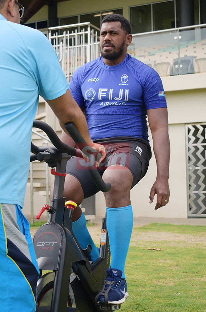 Fiji 7's extended squad member Kalioni Nasoko during team training at Albert Park on November 1, 2019. Photo: Ronald Kumar.